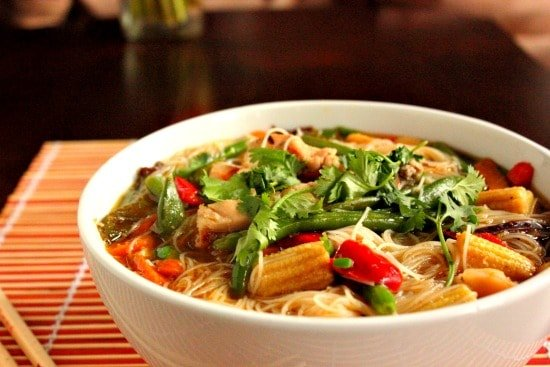Stir Fry Asian Chicken Soup