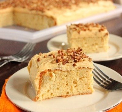 Spiced Tres Leches Cake w/ Pumpkin Cream Cheese Frosting