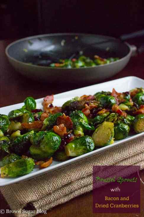 Brussel Sprouts with Dried Cranberries