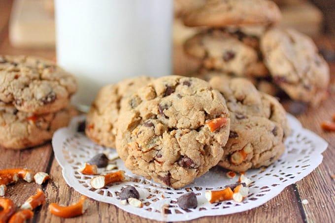 Brown Butter Chocolate Chip & Pretzel Cookies