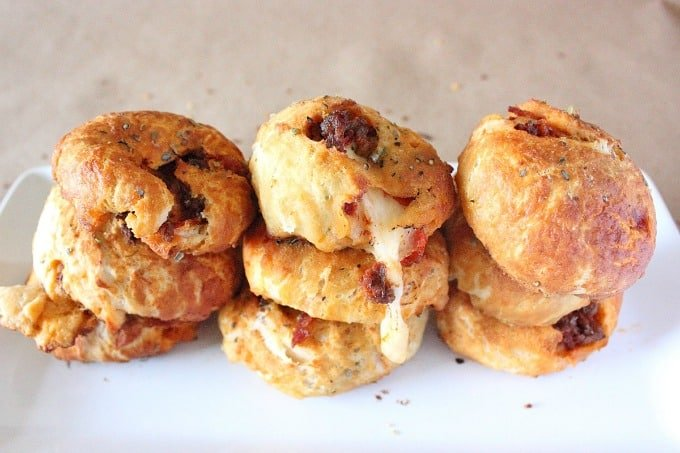 Meat Lovers Pizza Pretzel Bombs