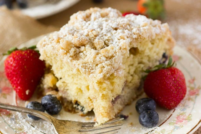 Mixed Berry Coffee Cake