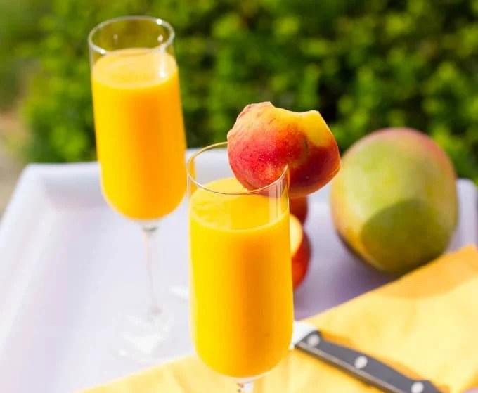 Mango Peach Bellini