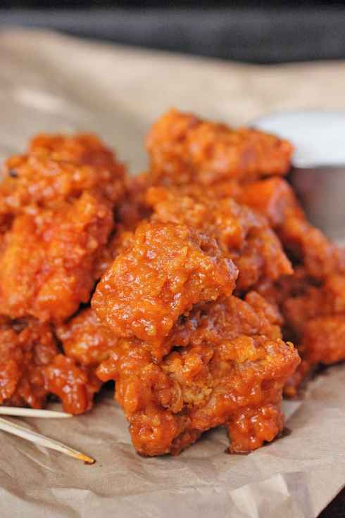 Garlic Buffalo Boneless Wings