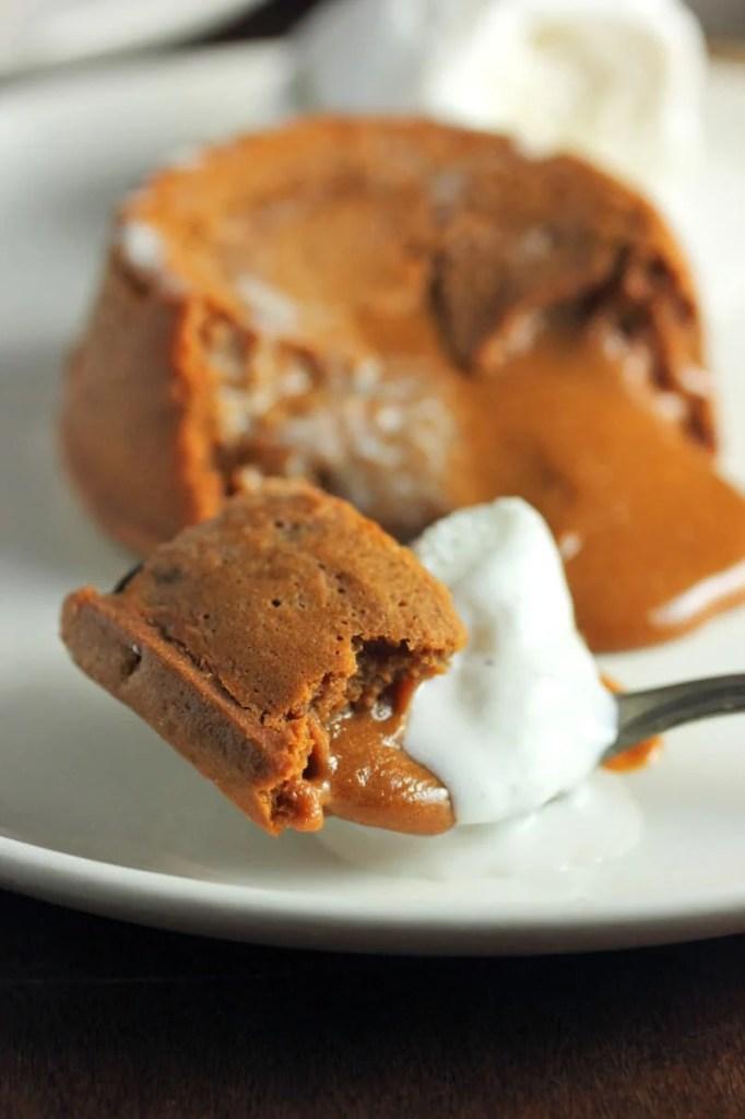 Molten Lava Dulce de Leche Cake