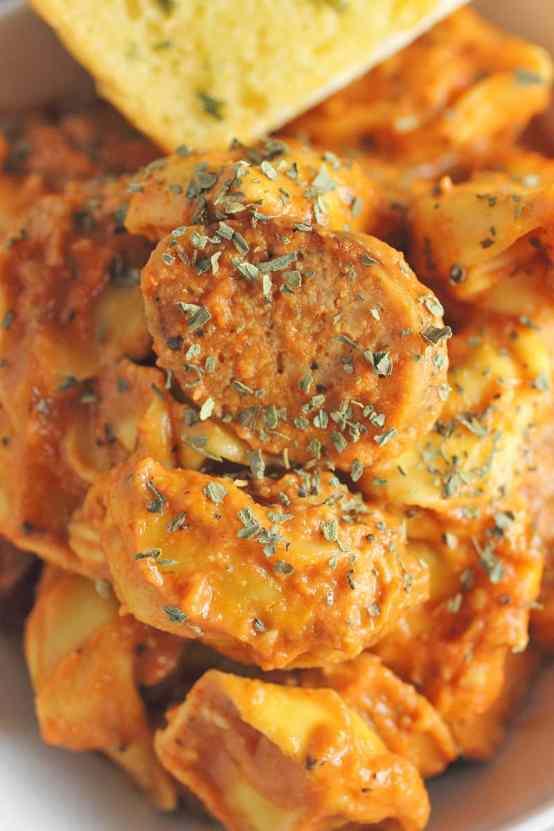 Sausasge and Three Cheese Tortellini