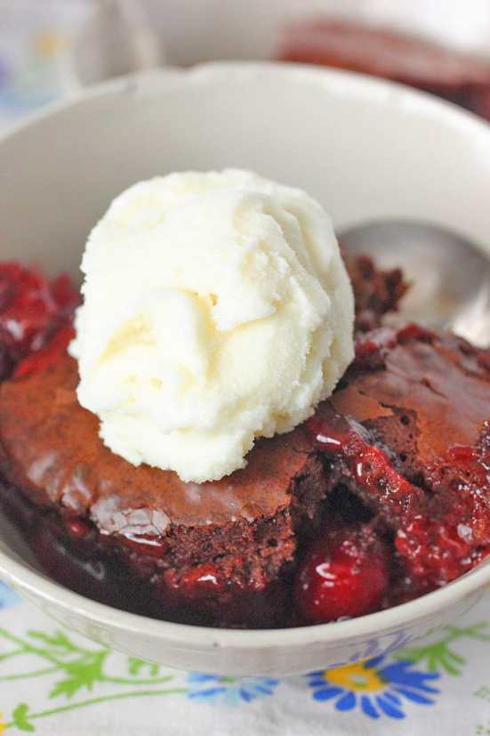 Brownie Cherry Cobbler Recipe