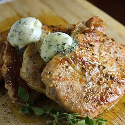 Easy Grilled Pork Chops with Herb Butter & $100 Wal-Mart Gift Card Giveaway