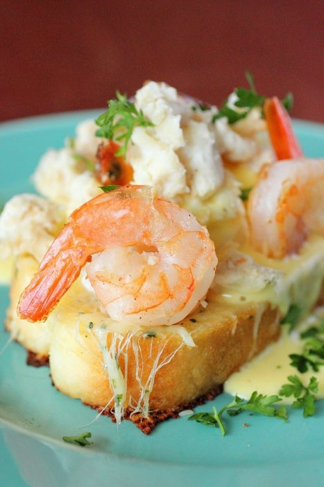 Seafood Eggs Benedict
