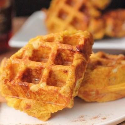Pumpkin Liege Waffle Recipe
