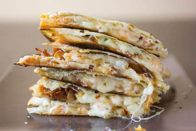 Easy Quesadilla Recipe with Shrimp and Bacon