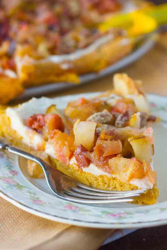 Fall Inspired Fruit Pizza