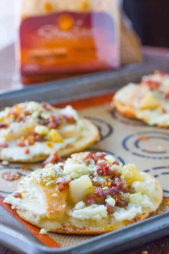 Prosciutto and Pear Flatbread Pizzas