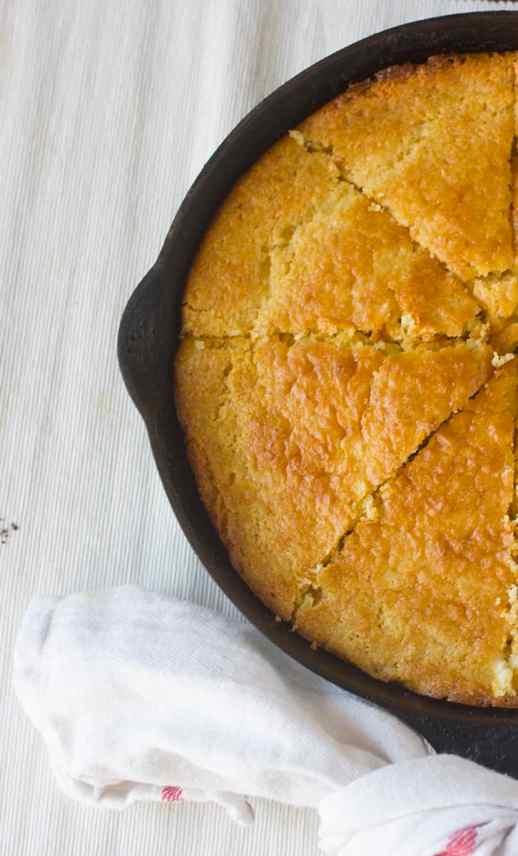 Skillet Buttery Cornbread Recipe