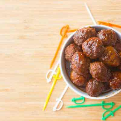 Sweet and Spicy Crockpot Meatballs