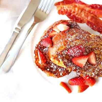 Stuffed French Toast Recipe with Strawberries