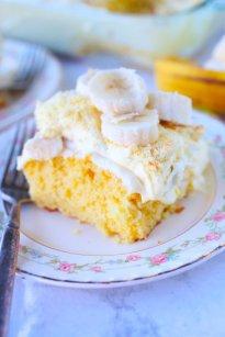 Banana Pudding Poke Cake Brown Sugar Food Blog