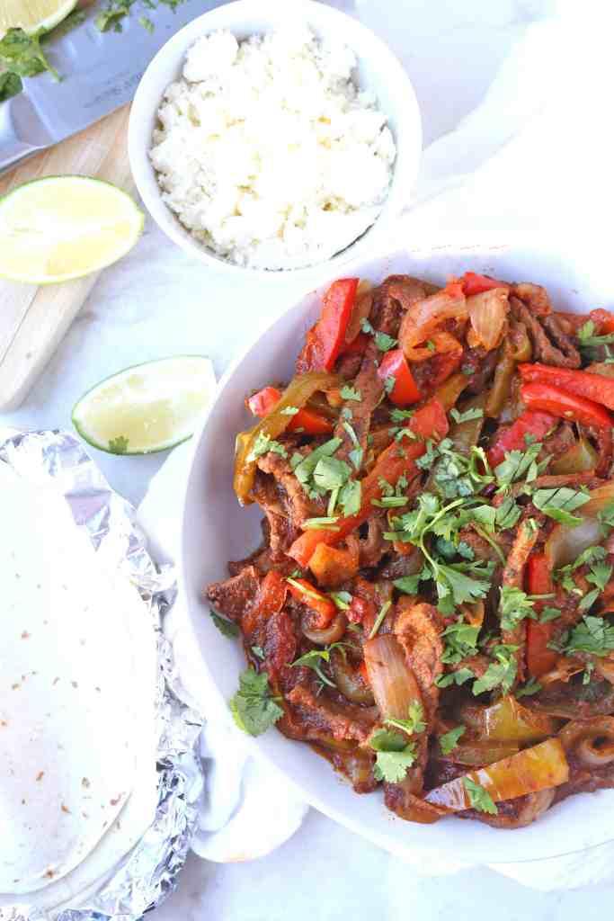 Easy Ribeye Beef Fajitas with Simply Organic Simmer Sauce