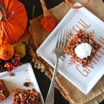 Pecan Pumpkin Pie Bars Recipe