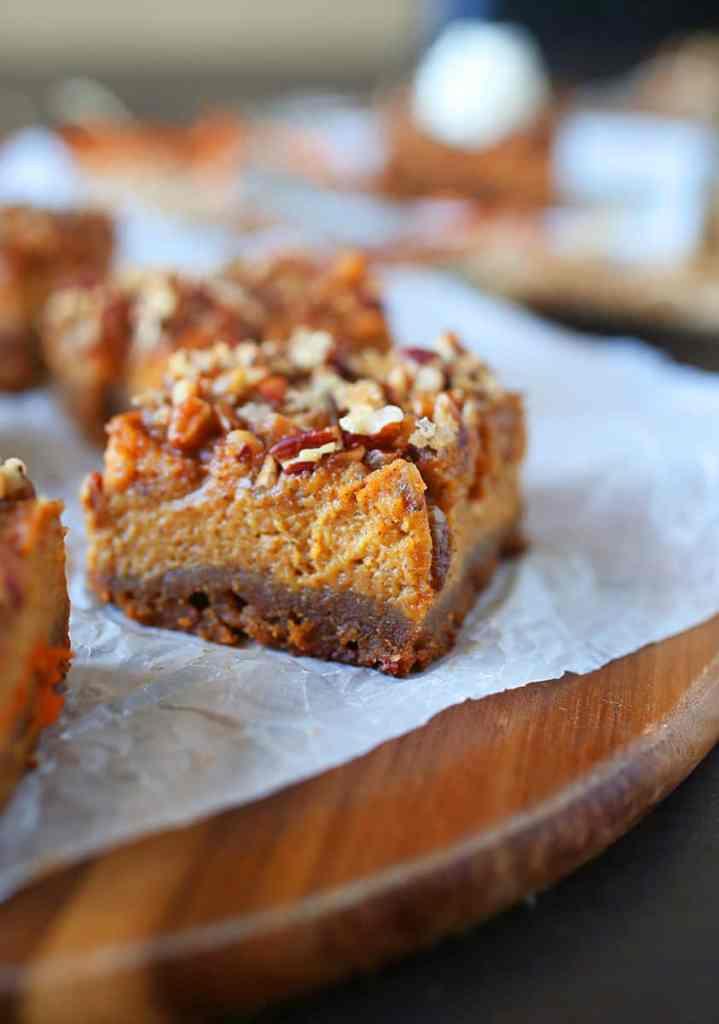 Pecan Pumpkin Pie Bars