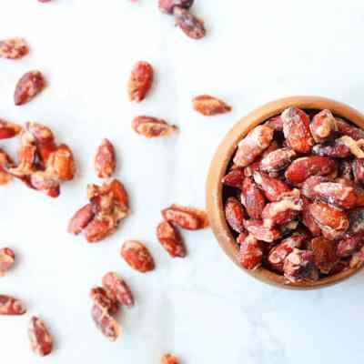 Bourbon and Pumpkin Candied Almonds