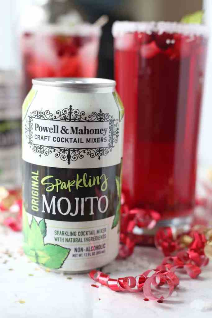Cranberry Pomegranate Mojito