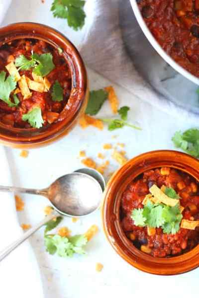 Thick and Hearty Vegetarian Chili
