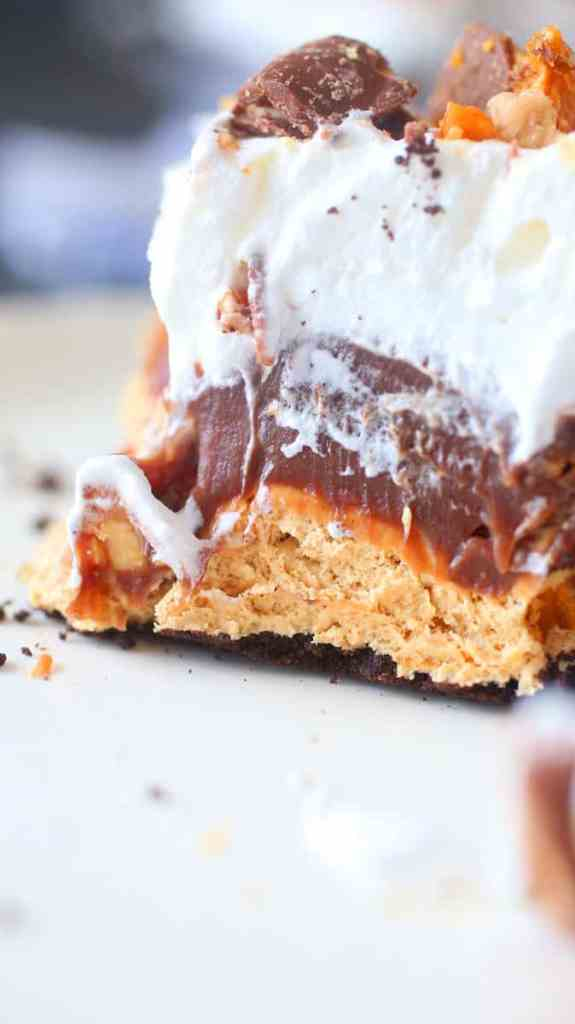 No Bake Candy Bar Pie Recipe