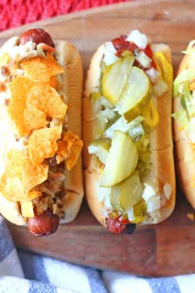 Hot Dog Bar Ideas with Nathans Famous & Snapple