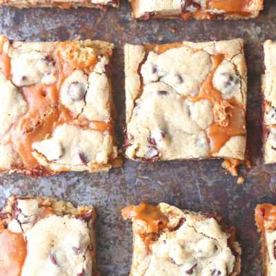 Browned Butter Caramel Chocolate Chip Bars