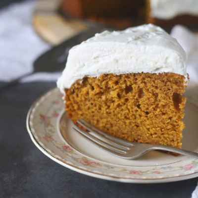 Easy Pumpkin Cake with Whipped Topping