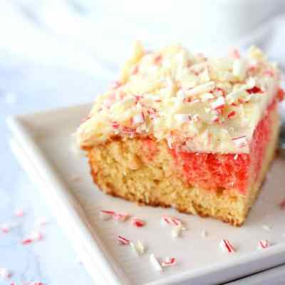 White Chocolate and Peppermint Sheet Cake
