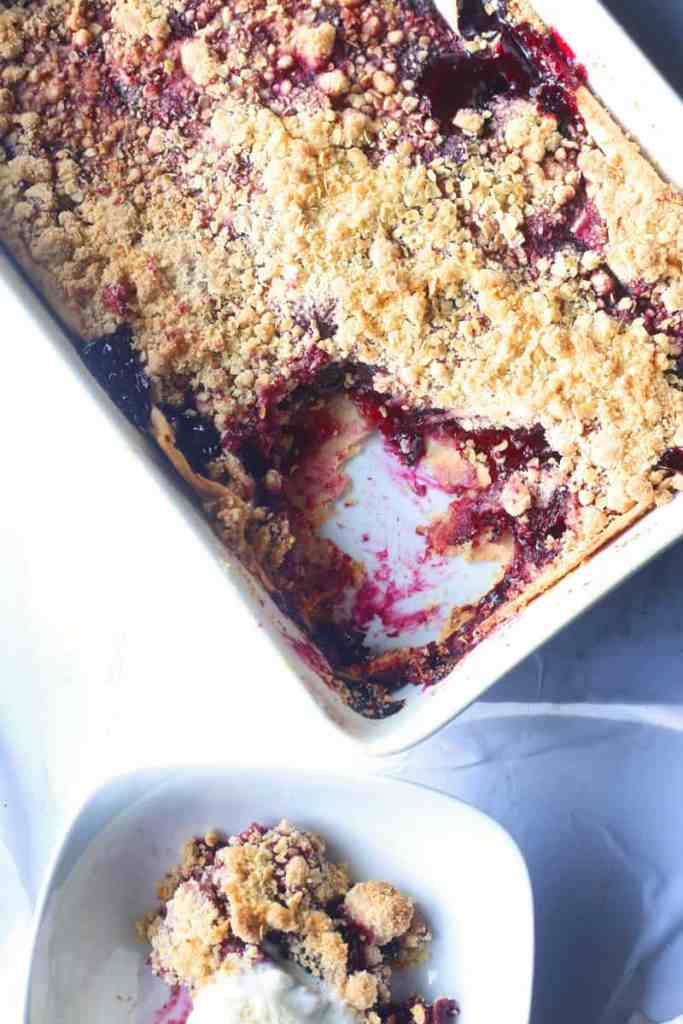 Super Simple Cherry Crumble