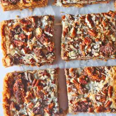 Coconut Caramel Cookie Magic Bars