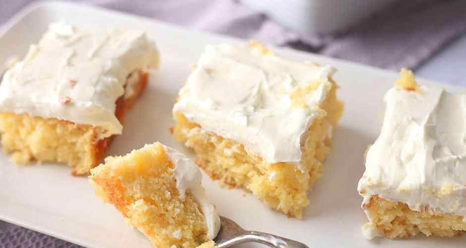 Pineapple Sheet Cake with Cake Mix