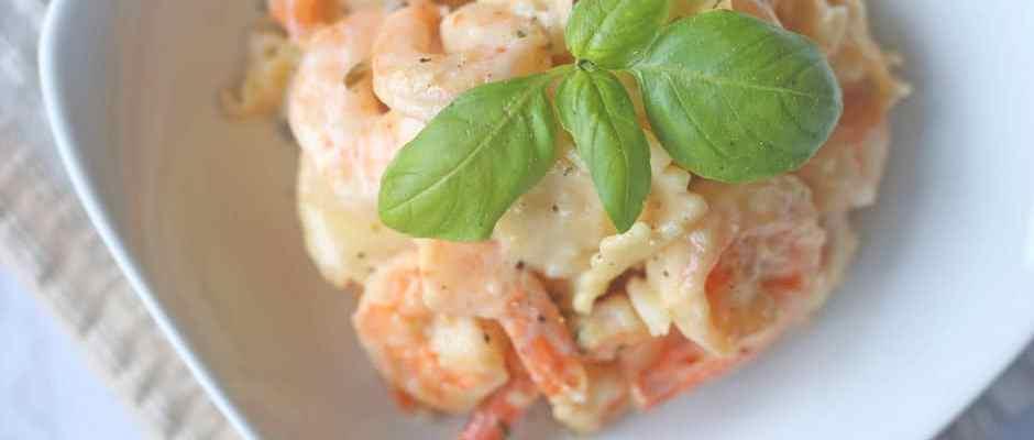 Creamy Shrimp Scampi Ravioli