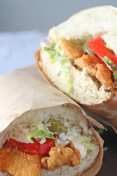 Fried Fish Po Boy Sandwich