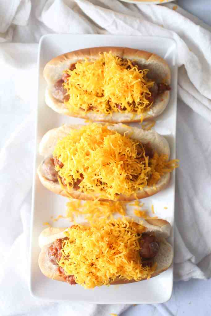 Cincinnati Style Chili Cheese Bratwurst
