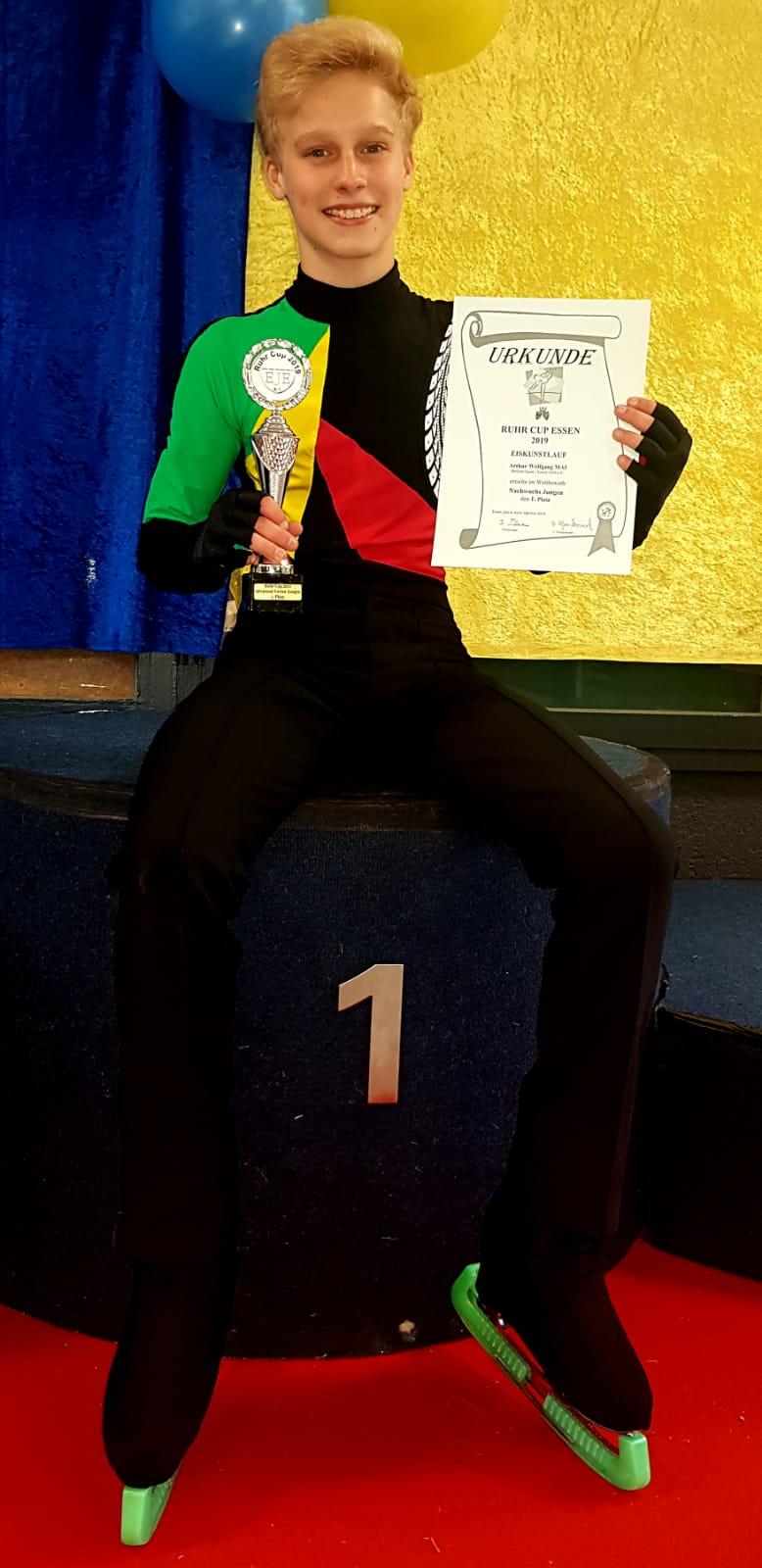 Arthur Mai als Sieger der Jugendklasse Ruhr Cup