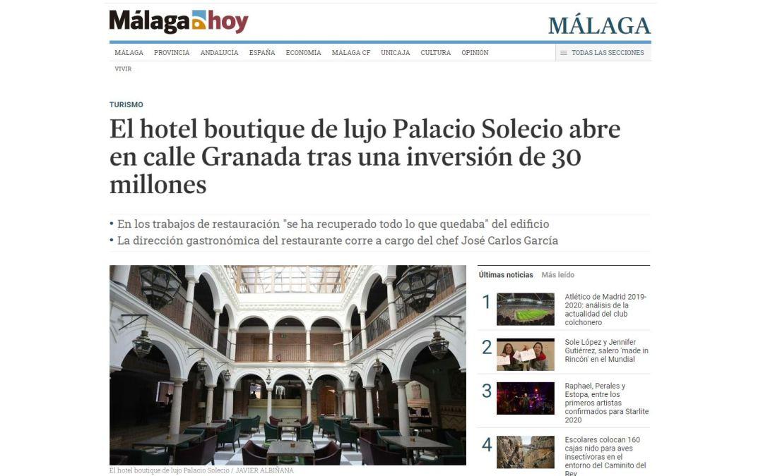 Inauguración del hotel Palacio de Solecio, rehabilitado por B/SV Arquitectos