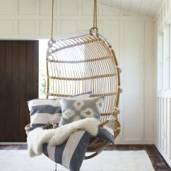 Hanging Rattan Chair Folding Attached To Wall Chairs A Home Style Trend That S Around Again Double