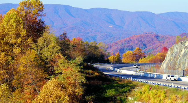Fall Leaves Dancing Wallpaper Scenic Drives And Hikes Through Asheville Nc Exit
