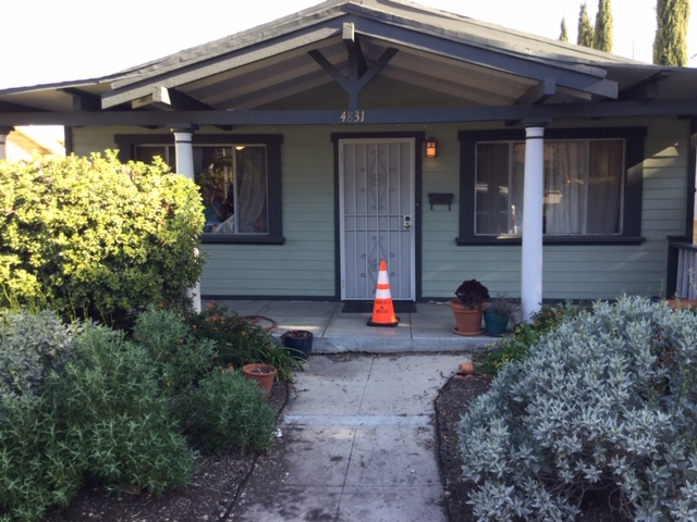 A Henkels & McCoy cone placed on Ian Chang's doorstep. (Ian Chang)