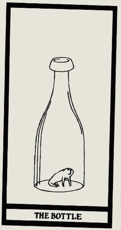 """Edward Gorey's """"Anxious, Irritable"""" Tarot Card Set is"""
