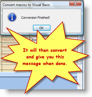 Conversion Finished Dialog