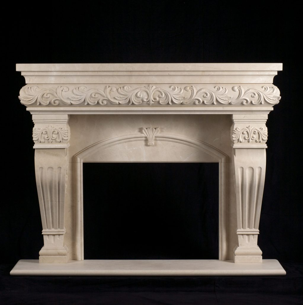 Fireplace In French Italian & Tuscan Stone Fireplace Mantels - Bt
