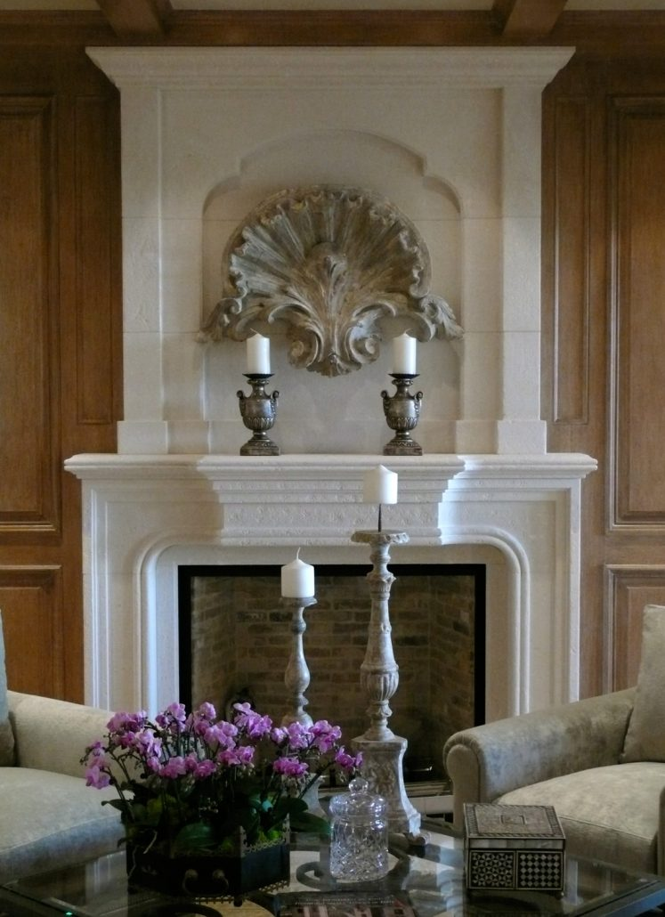 Custom Italian  Tuscan Stone Fireplace Mantels  BT