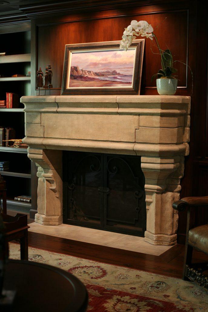 Italian  Tuscan Stone Fireplace Mantels  BT Architectural Stone