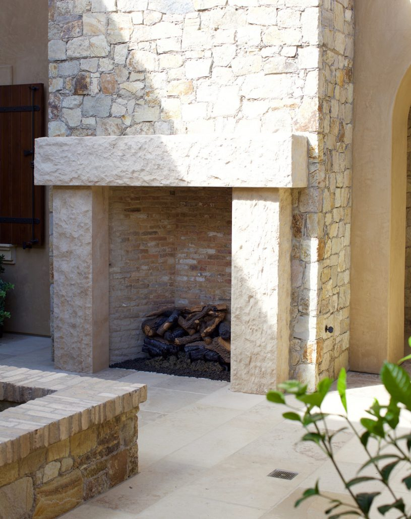 Custom Italian  Tuscan Stone Fireplace Mantels  BT Architectural Stone
