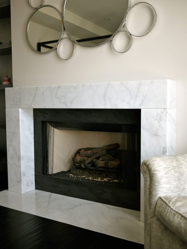 Contemporary Stone Fireplace Mantels